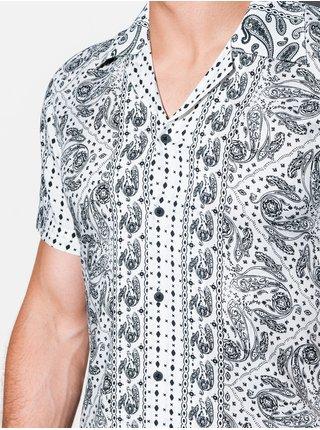 Pánská košile s krátkým rukávem K556 - bílá
