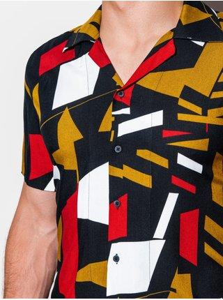 Pánská košile s krátkým rukávem K559 - černá