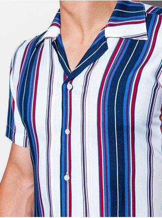 Pánská košile s krátkým rukávem K533 - bílá