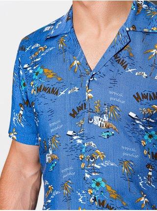 Pánská košile s krátkým rukávem K560 - nebesky modrá