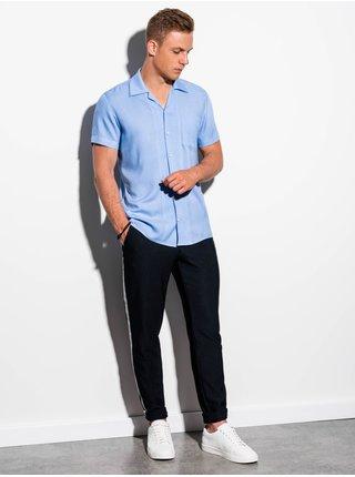 Pánská košile s krátkým rukávem K561 - blankytná