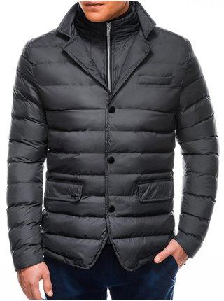 Pánská zimní bunda C445 - šedá