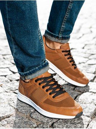 Pánske sneakers topánky T361 - hnedá