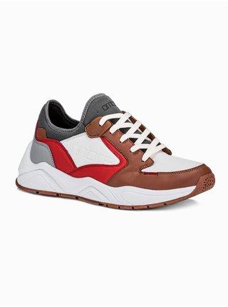 Pánské sneakers boty T363 - hnědá