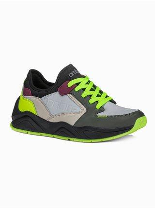 Pánské sneakers boty T363 - olivová