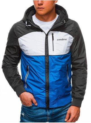 Pánská jarní bunda C447 - nebesky modrá