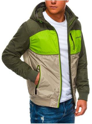Pánská jarní bunda C447 - zelená
