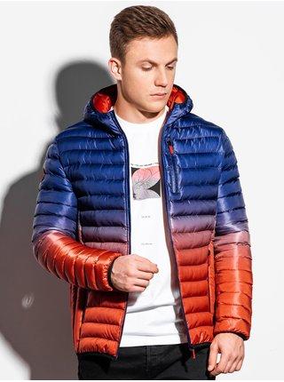 Pánská jarní bunda C319 - modro-červená
