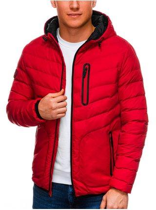 Pánská jarní bunda C356 - červená