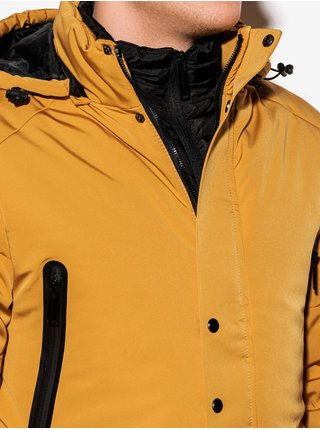 Pánská zimní bunda C449 - hořčicová