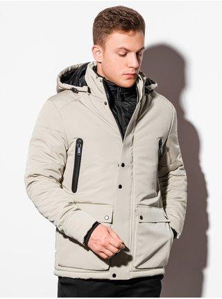 Pánská zimní bunda C449 - béžová