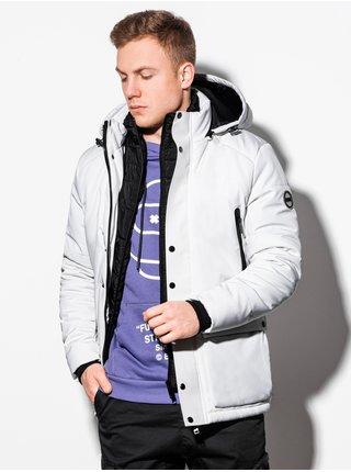 Pánská zimní bunda C449 - bílá