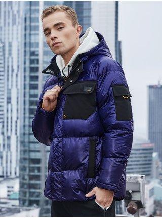 Pánská zimní bunda C457 - fialová