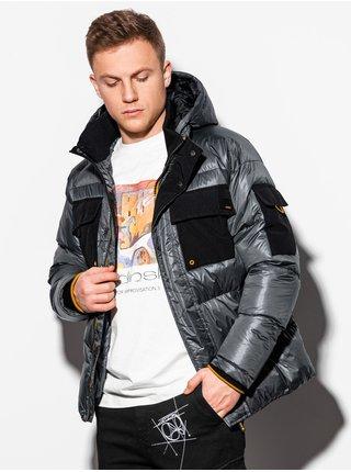 Pánská zimní bunda C457 - grafitová