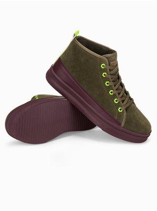 Pánske sneakers topánky T362 - khaki
