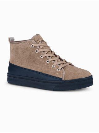 Pánske sneakers topánky T362 - béžová