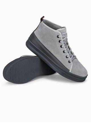 Pánské sneakers boty T362 - šedá