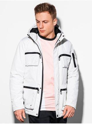 Pánská zimní bunda C450 - bílá