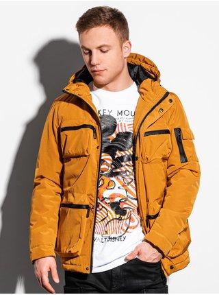 Pánská zimní bunda C450 - hořčicová