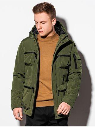 Pánská zimní bunda C450 - khaki