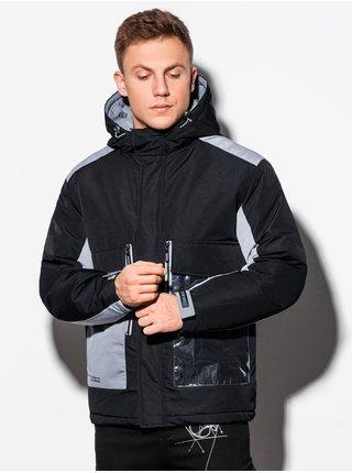 Pánská zimní prošívaná bunda C460 - černá