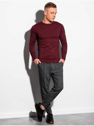 Men's sweater E177 - bordó