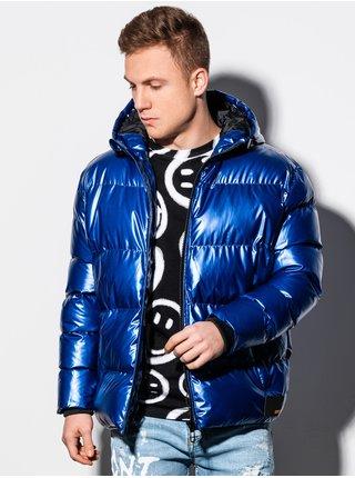 Pánská zimní prošívaná bunda C463 - nebesky modrá