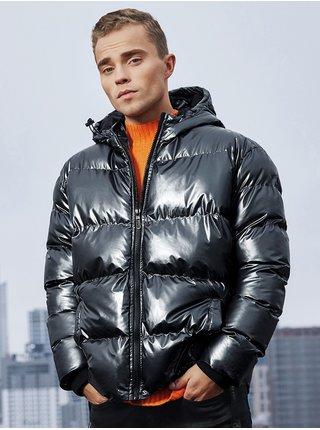 Pánská zimní prošívaná bunda C463 - černá