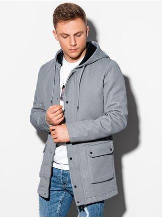 Jarní kabát C454 - šedá