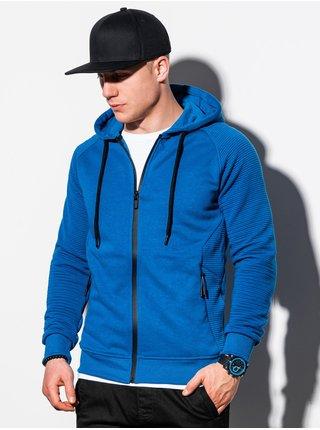 Pánská mikina na zip s kapucí B1083 - nebesky modrá