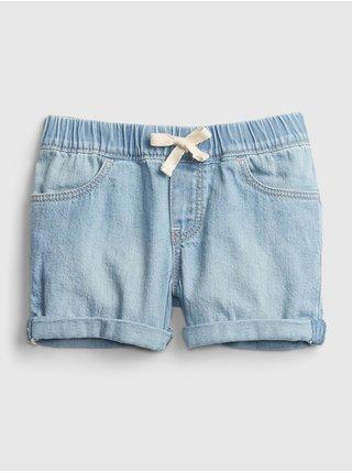 Modré holčičí dětské džínové kraťasy shortie - po l