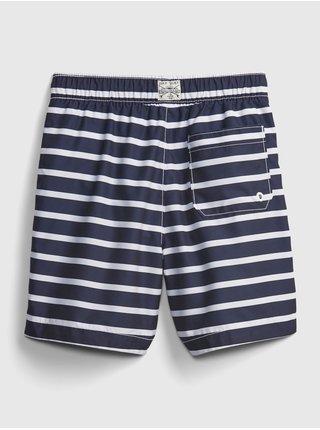 Detské plavky recycled stripe swim trunks Modrá