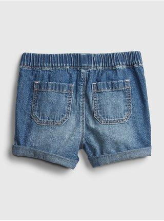 Detské kraťasy shortie - po med Modrá