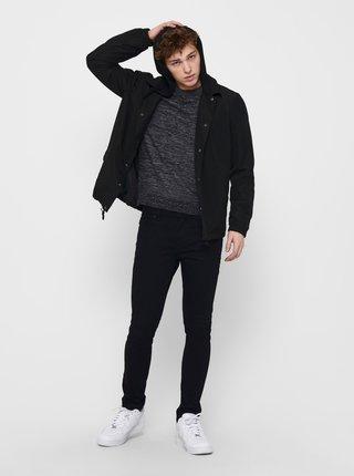 Černá bunda s kapucí ONLY & SONS Murphy
