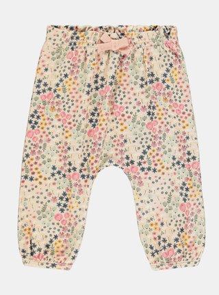 Růžové holčičí květované tepláky name it Beata