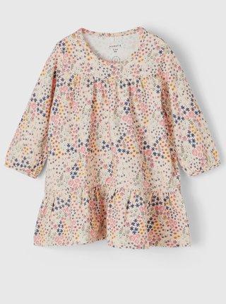 Růžové holčičí květované šaty name it Beata