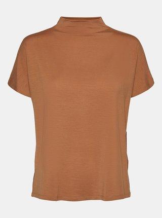 Hnědé tričko VERO MODA Ava