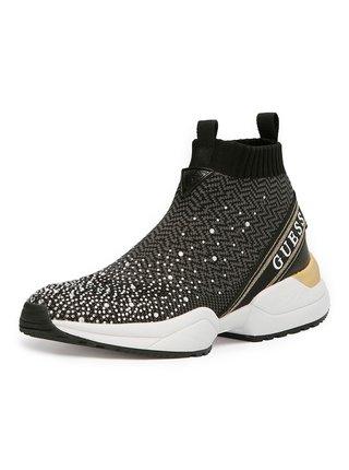 Guess černé ponožkové tenisky Bammie Sneaker Rhinestones