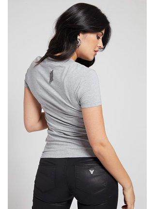 Guess šedé tričko Triangle Logo