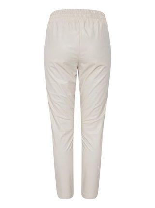 Ichi béžové koženkové kalhoty Ihgafilla