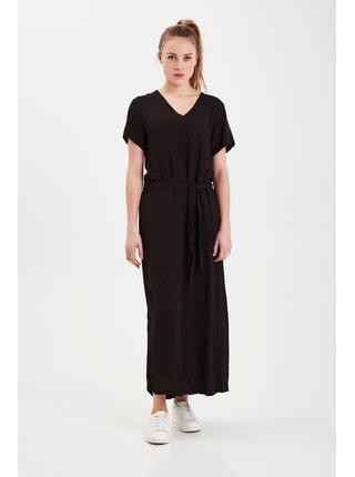 Ichi čierne maxi šaty Ihmarrakech