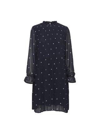 Ichi tmavě modré jarní šaty Ihnally