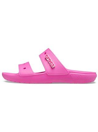 Crocs růžové pantofle Classic Crocs Sandal Electric Pink