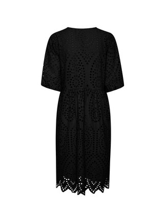 Ichi čierne šaty Ihfionn s madeirou
