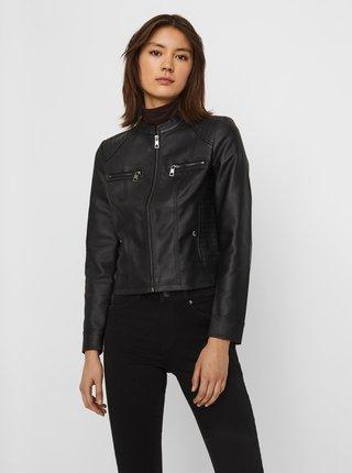 Černá koženková bunda VERO MODA Texas