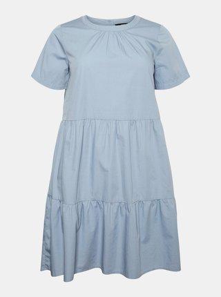 Světle modré šaty VERO MODA CURVE Gulva