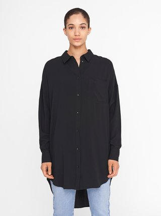 Černá dlouhá košile Noisy May Fiona
