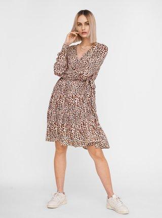 Béžové vzorované šaty Noisy May Fiona