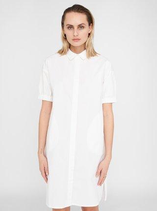 Bílé košilové šaty Noisy May Pinar