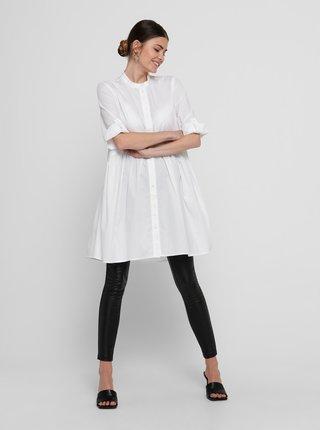 Bílé košilové volné šaty ONLY Chicago